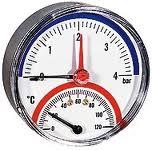 Термоманометр Watts TMRA 80mm 0-6 bar / 0-120 ° С задняя резьба интернет магазин