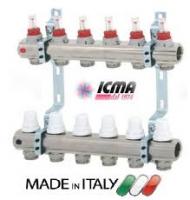 Коллектор для теплого пола с расходомерами ICMA 2 выходов (К013)