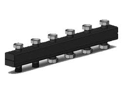 Распределительный коллектор на 3 отопительных контуров ОКС-3-3-125-НГ с накидной гайкой интернет магазин