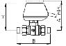 Шаровой зонный 2-ходовой клапан ICMA 3/4 с приводом (арт.342) интернет магазин